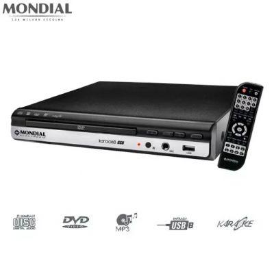 DVD VÍDEO D-15 ENTRADA USB, FUNÇÃO KARAOKÊ