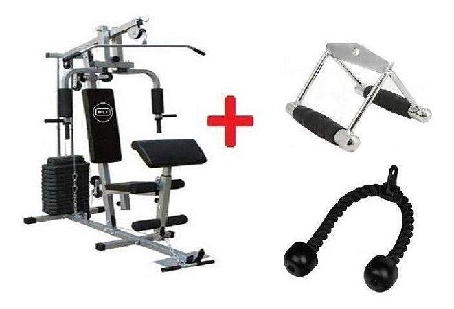 Estação De Musculação + Puxador Corda E Triangulo Fechado