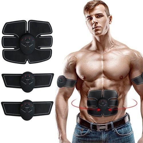 Estimulador Muscular Abdômen E Braço Tonificador Ems Fitness