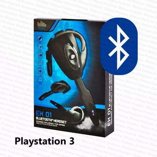 HEADSET EX-01 BLUETOOTH 3.0 PLAYSTATION 3 PS3 JOGOS ONLINE