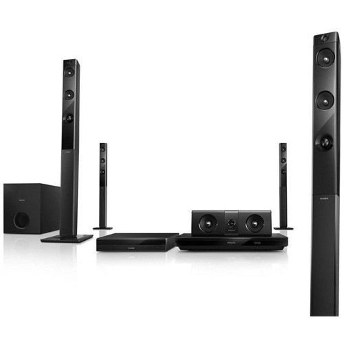 HOME THEATER PHILIPS HTB5580X/78 5.1 CANAIS 1000W COM BLU-RAY 3D