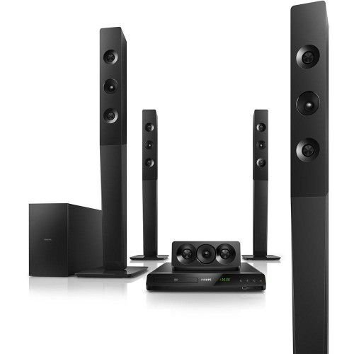 HOME THEATER PHILIPS HTD5580X/78 5.1 CANAIS 1000W RMS COM DVD