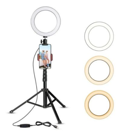 Iluminador Led Ring Light Anel C/ Tripé Make Selfie Youtube