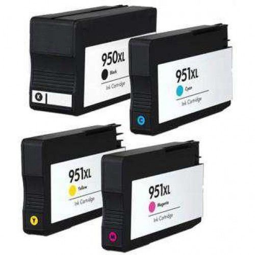 KIT 4 CARTUCHO HP 950XL 951XL PARA OFFICEJET 8100 8600