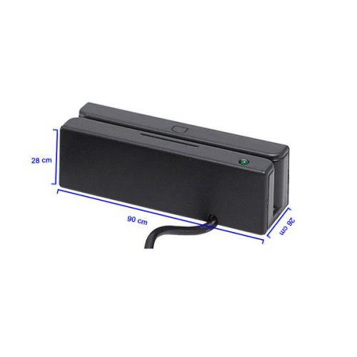 MSR100 LEITOR DE CARTÃO MAGNÉTICO USB - TRILHAS 1 2 3 - COM SOFTWARE