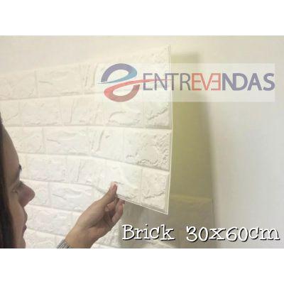 PAINEL 3D AUTO-ADESIVO TIJOLO E PEDRA