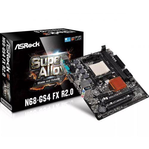 PLACA MÃE ASROCK AM3 AM3+ N68-GS4 FX DDR3 R2.0