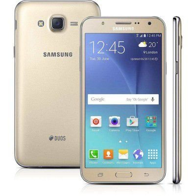 SMARTPHONE SAMSUNG GALAXY J7 DUOS J700M/DS DOURADO DUAL CHIP ANDROID 5.1 4G WI-FI PROCESSADOR OCTA-CORE 1.5 GHZ CÂMERA 13MP