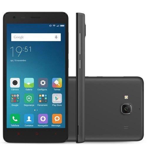 SMARTPHONE XIAOMI REDMI 2 CINZA ESCURO COM ANDROID, DUAL CHIP, TELA DE 4,7', CÂMERA 8MP, 4G, 8GB E PROCESSADOR QUAD CORE DE 1.2GHZ