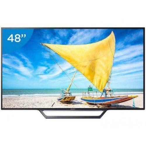 """SMART TV LED 48"""" SONY FULL HD KDL-48W655D - CONVERSOR DIGITAL WI-FI 2 HDMI 2 USB DLNA"""
