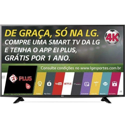"SMART TV LED 49"" ULTRA HD 4K LG 49UF6400 COM CONVERSOR DIGITAL 2 HDMI 1 USB WEBOS 2.0 WI-FI INTEGRADO"