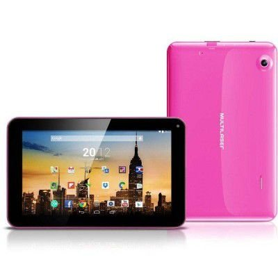 """TABLET MULTILASER M9 NB150 TELA 7"""" ANDROID 4.4 8GB RAM 1GB WI-FI ROSA DUAL CORE A23 1.2GHZ"""