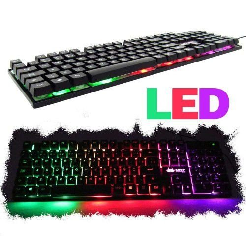 TECLADO GAMER LUMINOSO LED NEON USB LEGENDS GHOST TECLA Ç T9