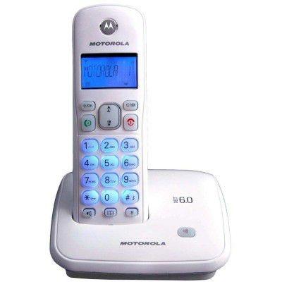 TELEFONE SEM FIO MOTOROLA AURI 3500W, DECT 6.0, VISOR E TECLADO LUMINOSO, IDENTIFICADOR DE CHAMADAS, VIVA-VOZ