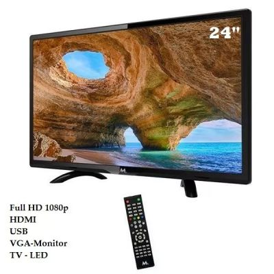TELEVISÃO DIGITAL E MONITOR 24 POLEGADAS MTEK - LED FULL HD