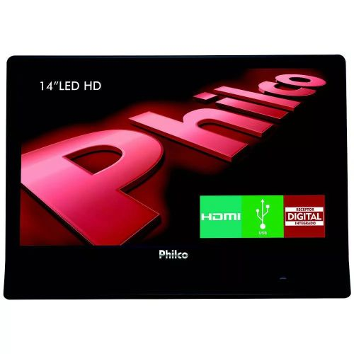 TV LED 14 POLEGADAS PHILCO PH14E10D HD HDMI USB CONVERSOR DIGITAL