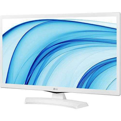 """TV LED 24"""" LG HD 24MT48DF-WS 1 HDMI 1 USB 60HZ COM CONVERSOR DIGITAL INTEGRADO - BRANCO"""