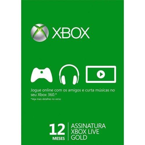 XBOX LIVE GOLD 12 MESES - XBOX 360 / XBOX ONE / WINDOWS 10
