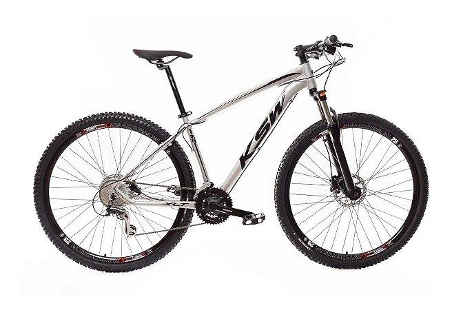 "QUADRO 15"" Bicicleta Mtb Alum 29 Ksw 24 Vel Xlt Shimano E Freio Disco"