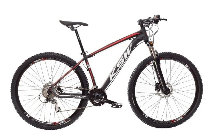 "QUADRO 19"" Bicicleta Mtb Alum 29 Ksw 24 Vel Xlt Shimano E Freio Disco"
