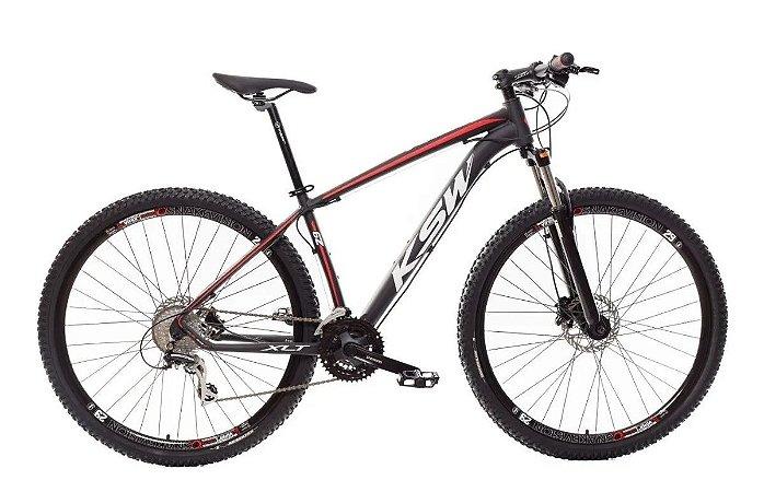 "QUADRO 21"" Bicicleta Mtb Alum 29 Ksw 24 Vel Xlt Shimano E Freio Disco"