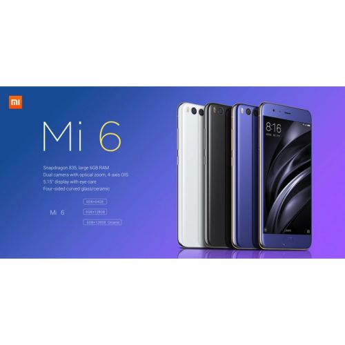 Smartphone Xiaomi Mi6 128b/6gb + Capa + Pelicula