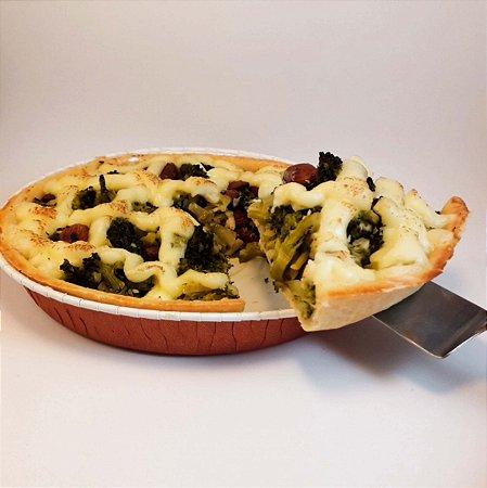 Torta sem glúten de brócolis com amêndoas - Média - (500g)