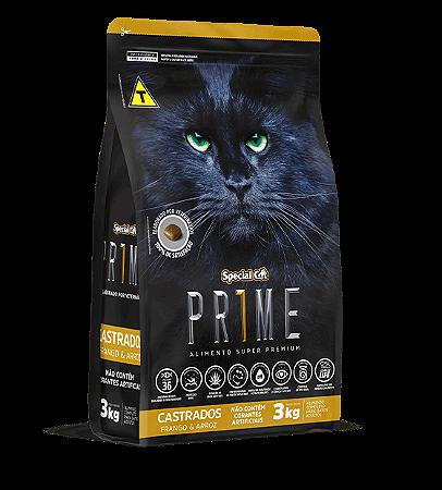 Prime Cat Castrado Frango e Arroz 3Kg
