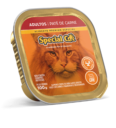 Special cat pate adulto 100g carne/frango/filhote