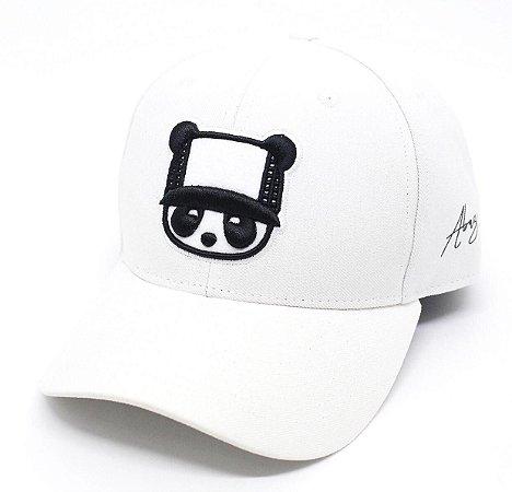 Boné Abaz Aba Curva - Panda - White