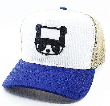 Boné Abaz Trucker - Panda - Blue and Gold