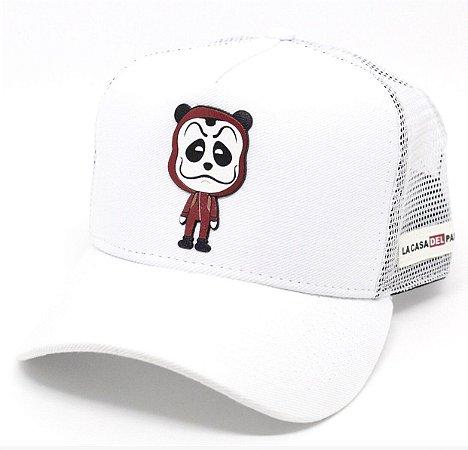 Boné Abaz Trucker - La Casa del Panda - Branco