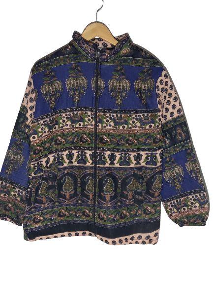 casaco acolchoado estampa elefante