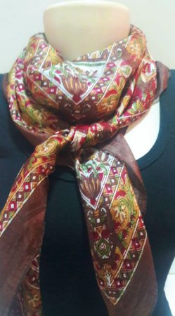 lenço indiano 100% seda