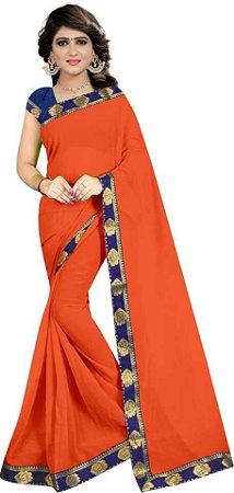 saree indiano laranja