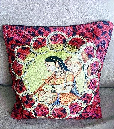 capa de almofada estampada indiana