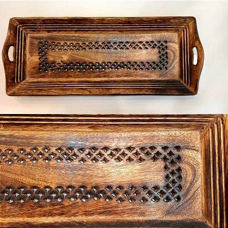 bandeja de madeira trabalhada
