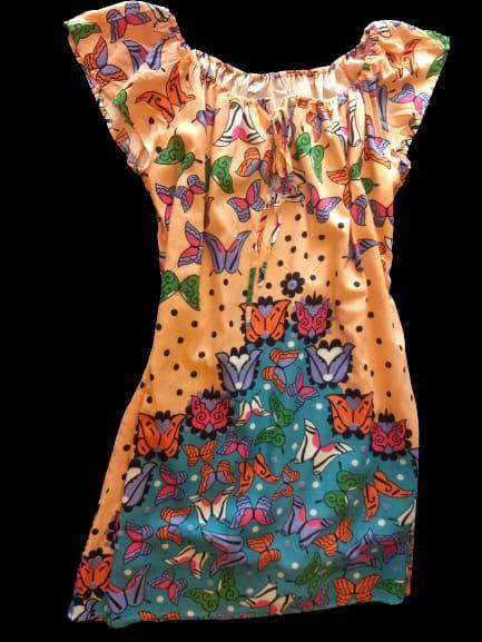 vestido curto ciganinha estampa borboleta