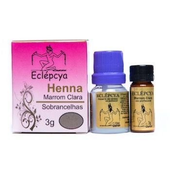 Henna Sobrancelhas Eclépcya - Marrom clara 3g