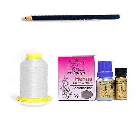 kit design - henna clara, lápis e linha branca
