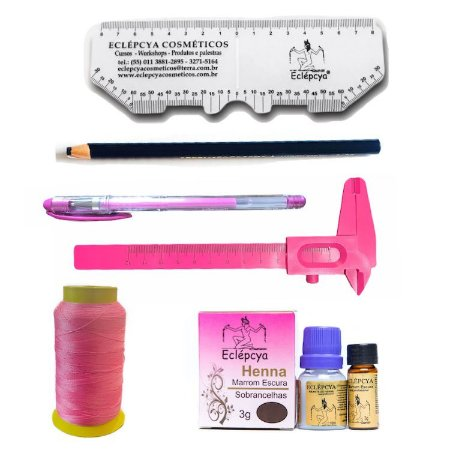 Henna Eclépcya Escura 3g + kit marcação