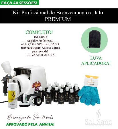 Kit Profissional de Bronzeamento a Jato  (PREMIUM)