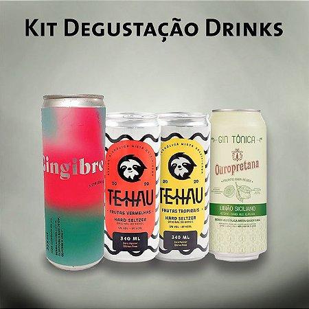 Kit Degustação Drinks (Tehau, Gingibre, Ouropretana)
