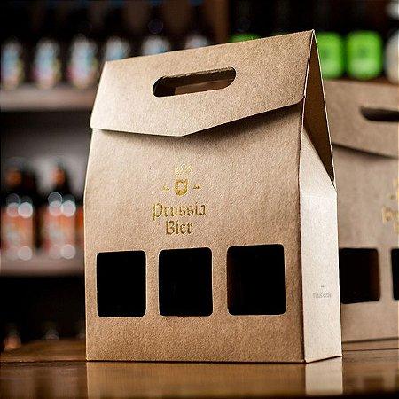 Embalagem Caixa Kit p/ 3 garrafas