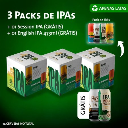 Compre 3 Packs e ganhe 1 english ipa + 1 fake ipa