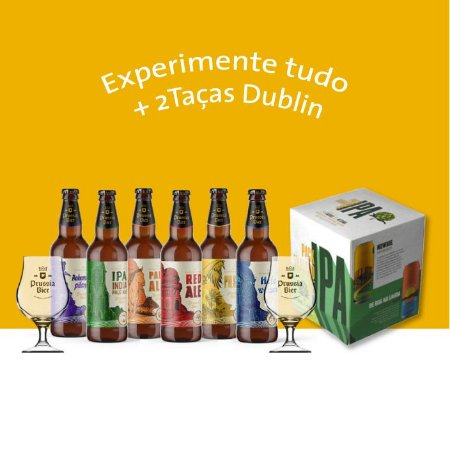 "Combo ""Experimente Tudo!"" + 2 Taças Dublin"