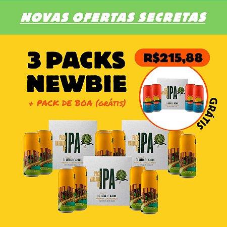 3 x Packs Newbie - New England IPA + 1 Pack De Boa na Lagoa (Grátis)