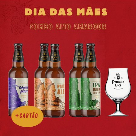 Combo Alto Amargor (1x Bohemian + 2x Pale Ale + 2x English IPA + Taça Dublin)