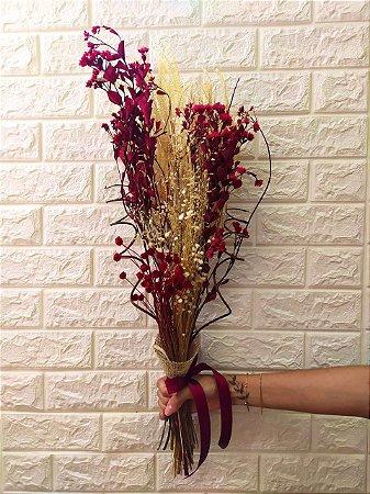 Buquê Mix de Flores Secas (PEÇA ÚNICA)  cod B004
