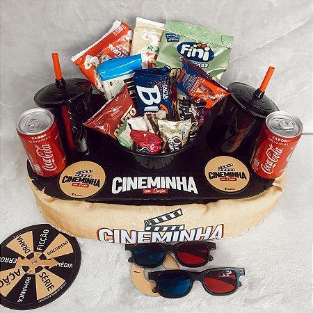Cesta Super Cinema Para 2 Pessoas com óculos 3D  cod K004